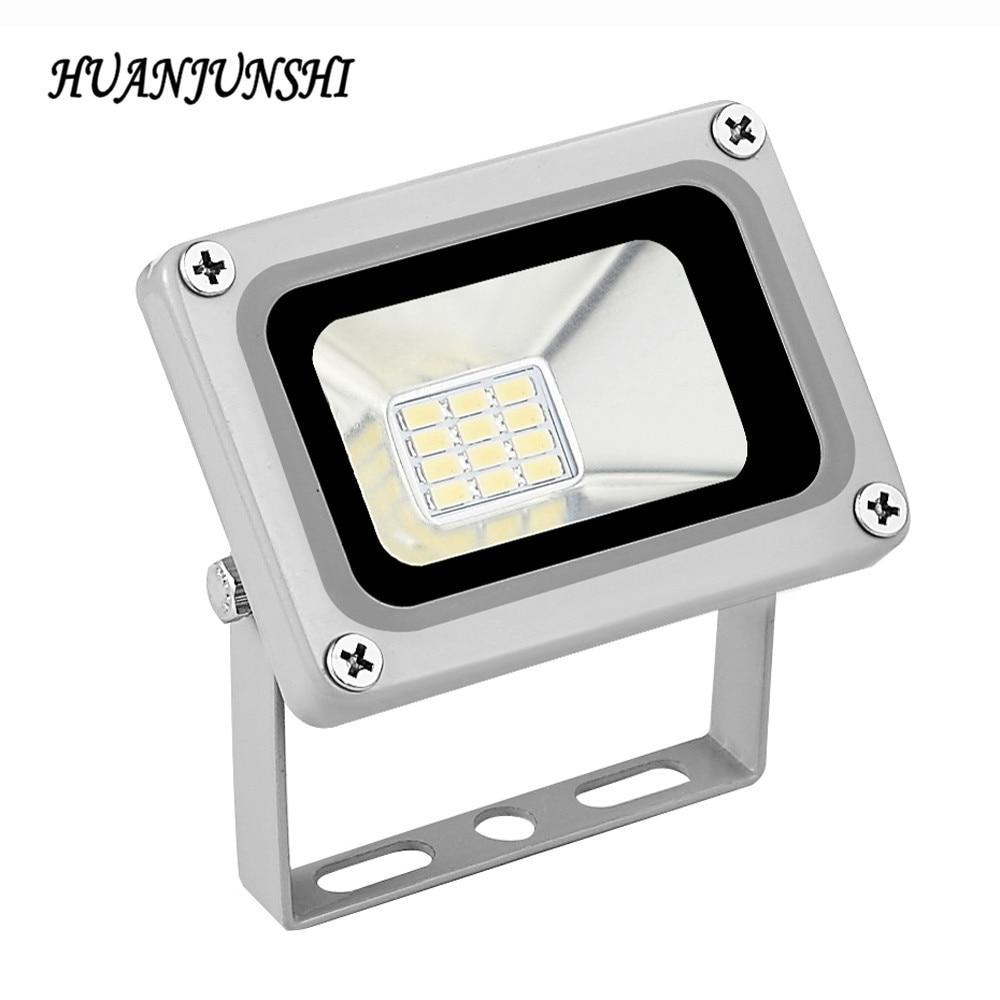 1pc Case 10W a prueba de lluvia LED Lámpara de luz de inundación Wash Pool Lámpara de punto de luz a prueba de agua 12V Iluminación exterior led proyector reflector