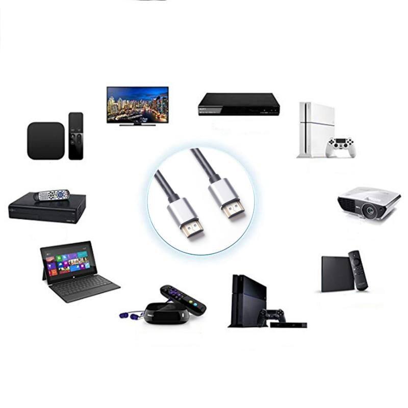 1 M Hdmi Kabel Hdmi Naar Hdmi Kabel Hdmi 2.0 4 K 3d 60fps Kabel Voor Hd Tv Lcd Laptop Ps3 Projector Computer Kabels