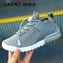 JACKSHIBO New Kids Shoes Spring Autumn Child Sneakers Mesh Breathable Sport Design Running Flat Casual Footwear