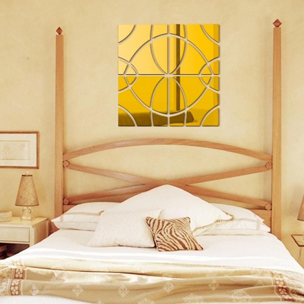 Avropanın məşhur 3 d DIY akril güzgü divarı müasir ev oturma - Ev dekoru - Fotoqrafiya 3