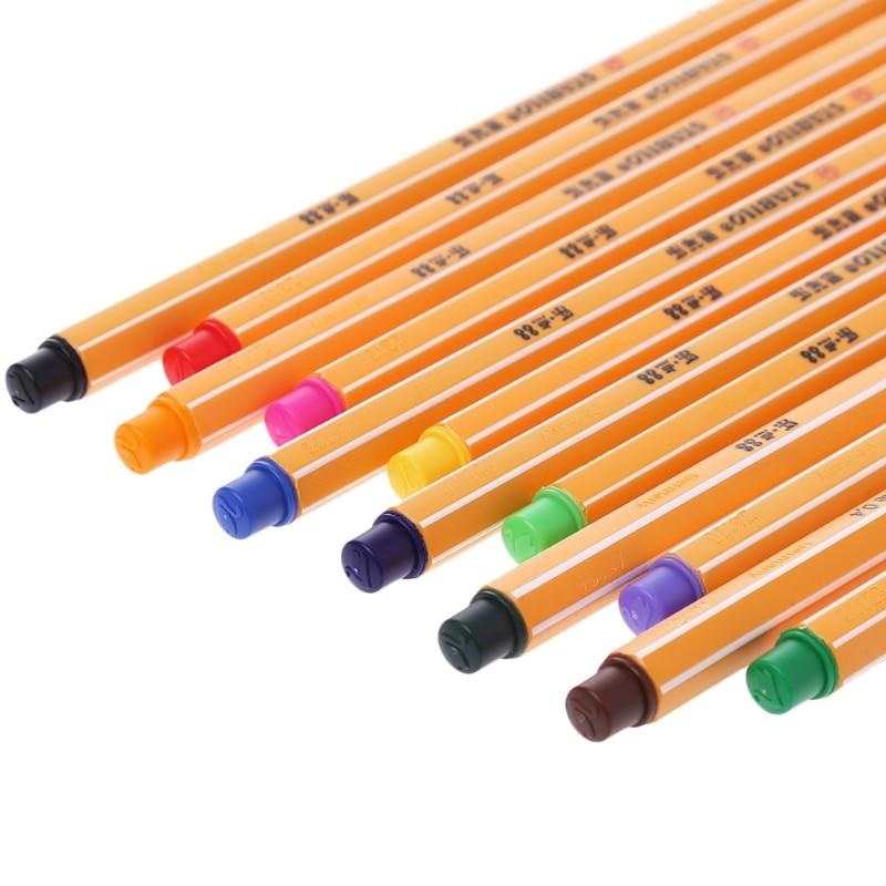 12 pçs colorido caneta conjunto stabilo fibra