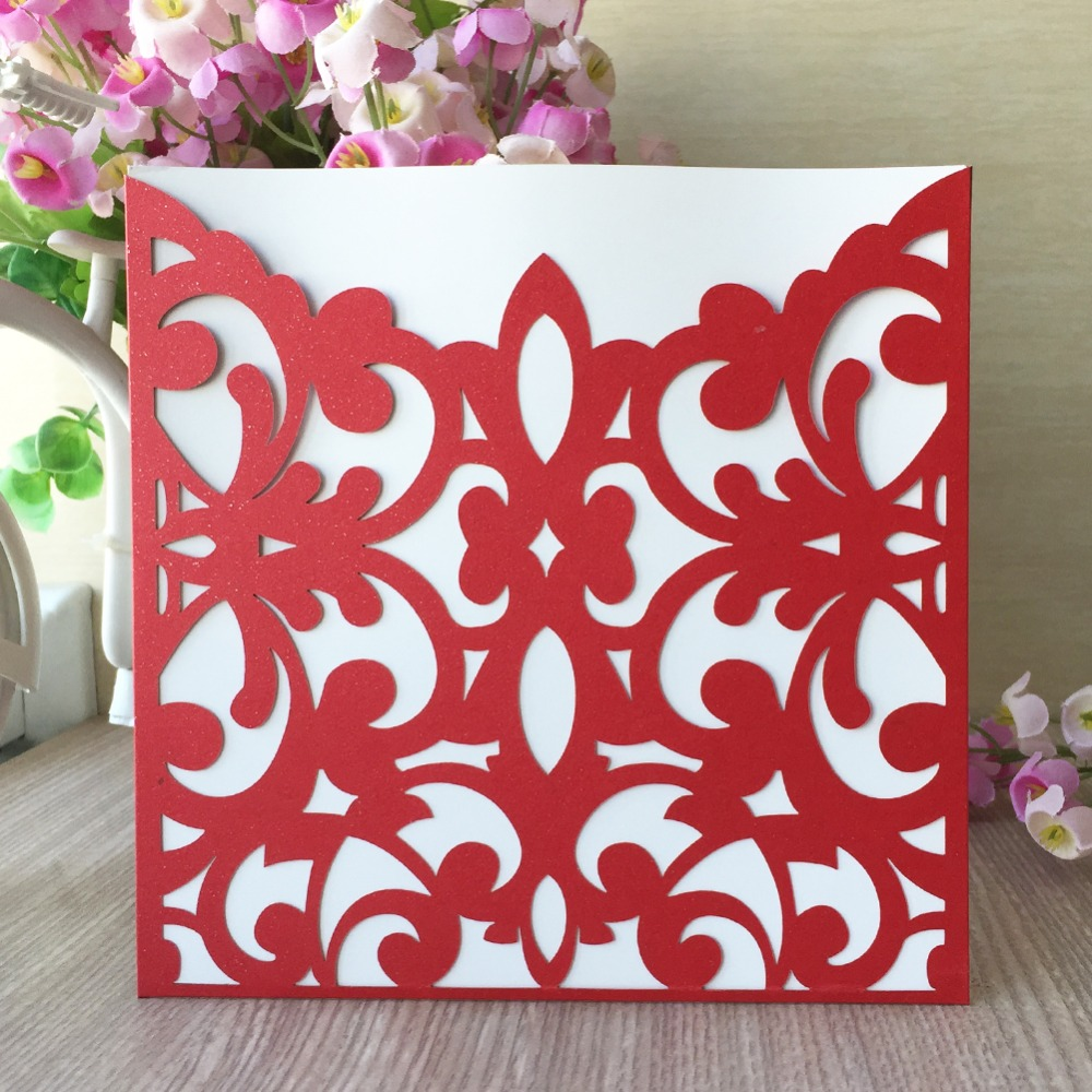 50pcs/lot Elegant wedding favors invitataion romantic cards greeting ...