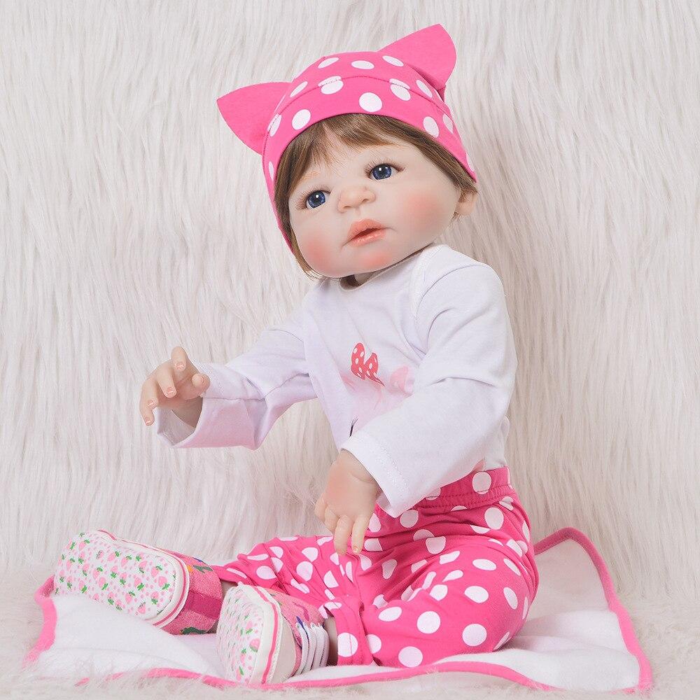 Aimee91 Vente Reborn Poupee Pour Bebes Fille 23 Pouces Doux Silicone Complet Jouet Enfants Lol Surprise Poupees Pas Cher Prix