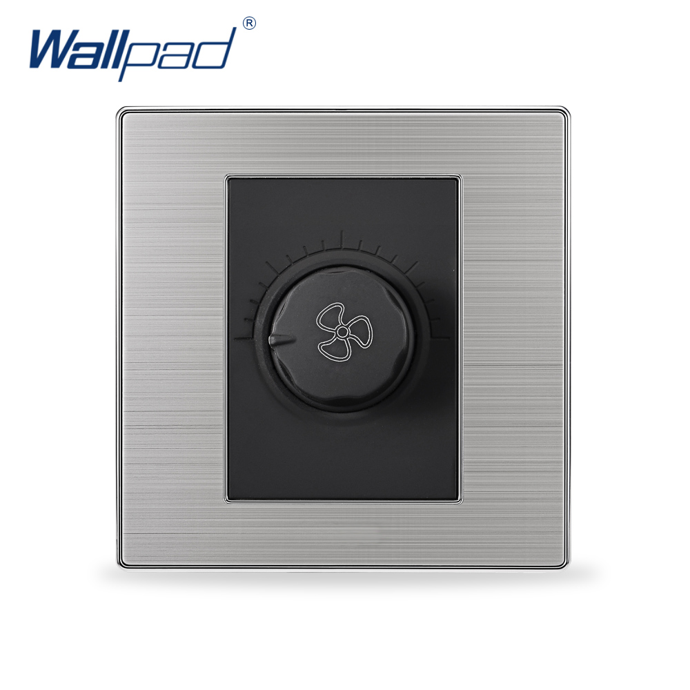 2017 Hot Sale Fan Switch Speed Regulator Wallpad Luxury Wall Switches SS304 Frame 2016year very hot sale rotary switch for pedestal fan 3 position rotary switch fan speed controller switch high quality switch