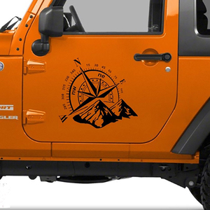 Image 4 - 50x60cm Compass Off Road Car Stickers and Decals Auto Engine Cover Door Window Car Vinyl Car Accessories 2 Colors