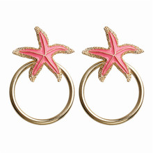 ECODAY Summer Beach Jewelry Starfish Earrings Statement for Women 2019 Big Drop Pendientes Brincos