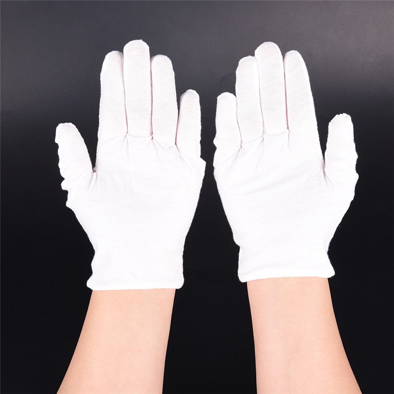 3 PAIR MENS OR WOMENS 100/% COTTON WHITE COIN INSPECTION GLOVES JEWELRY PHOTO