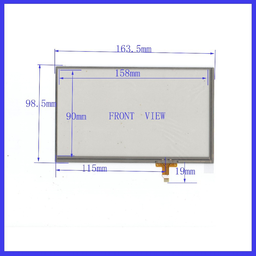 ZhiYuSun 7 inch Touch Screen 4 wire resistive Touch Panel for Industrial Touch Panel 163*98  164*99 zhiyusun new 10 4 inch touch screen 239 189 for industry applications 239mm 189mm 8 lins 47f8104025 r13 commercial use