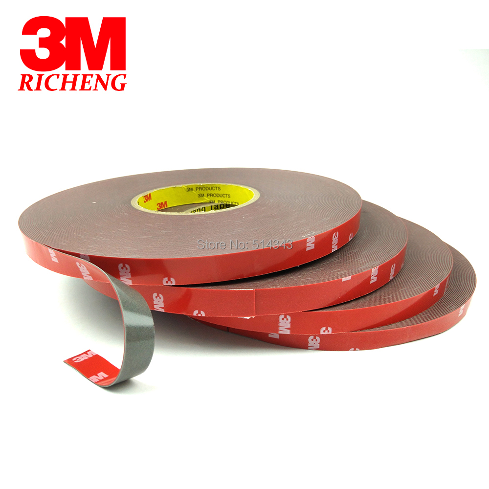 3M 4229 Double Sided Adhesive Tape Gray Color Auto Tape Model 4229p, 0.8mm Thickness, 10mm x 33m, 5Pcs/Lot 3m double side adhesive tape for auto 3000cm x 0 8cm