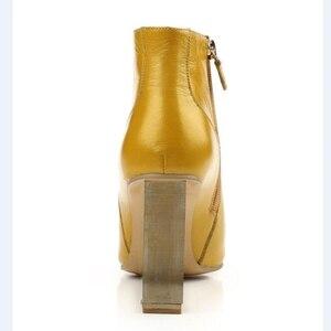 Image 3 - ALLBITEFO size33 41 marka moda kobiety buty z prawdziwej skóry kryształ kliny kostki buty damskie szpilki buty damskie na wysokim obcasie