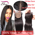 8A Cheap Brazilian Silk Base Closure Virgin Human Hair Silk Top Lace Closure Free/Middle/3 Part Silk Base Closure With Baby Hair