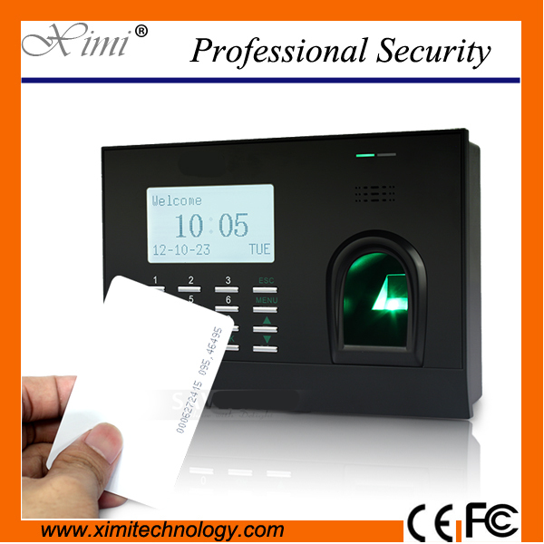 Good quality fingerprint time attendance with card reader, printer function external battery optional HJ699 10piece 100% new m3054m qfn chipset