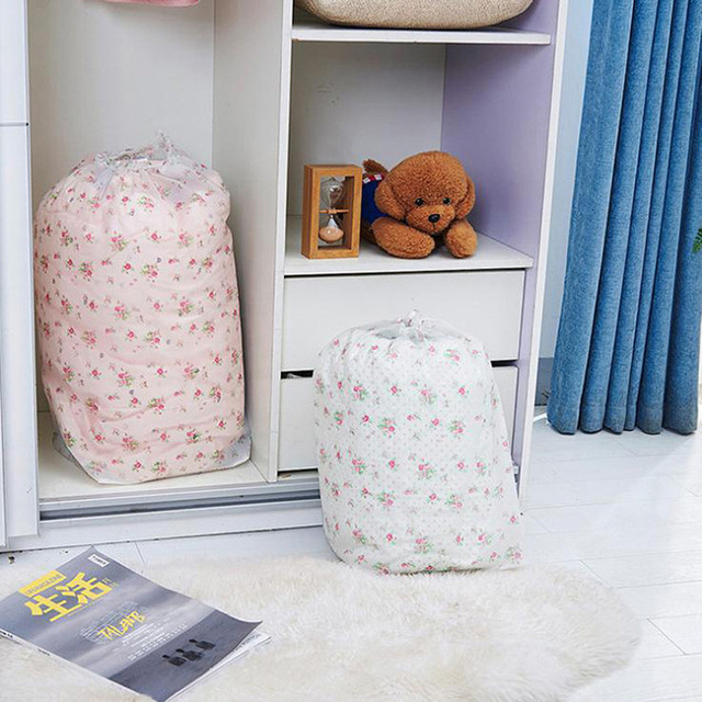 C# Foldable Storage Drawstring Clothes Blanket Quilt Closet Sweater  Organizer Bag #1103