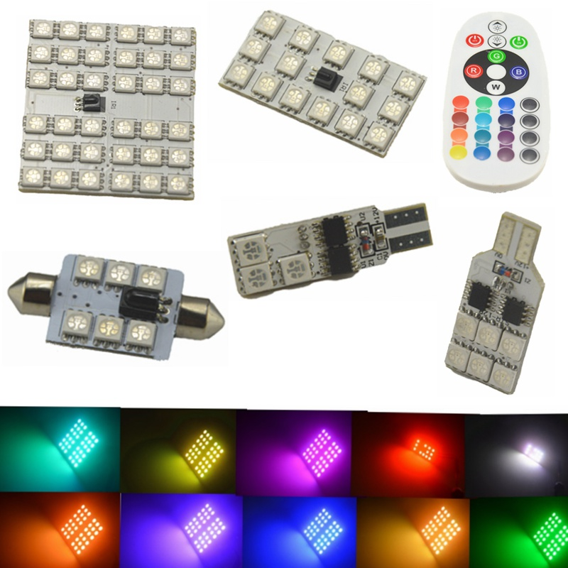 2pcs T10 BA9S RGB Multi Colors Changing LED Lamp Bulb Colorful Auto Car Light with Remote Control Light tiptop tp t08 big led co2 launcher food class co2 gas led colorful rgb changing anti false triggering insurance 8pcs aa battery