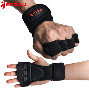 Boodun Weight Lifting Training Gloves Women Men Fitness Sports Body Building Gymnastics Grips Gym Hand Palm Protector Gloves(China)