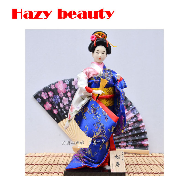 Jepang Boneka Geisha Kimono Boneka Ornamen Humanoid Boneka Ornamen  Kerajinan Aksesoris Rumah Perabotan Sutra liren 5eafec2242