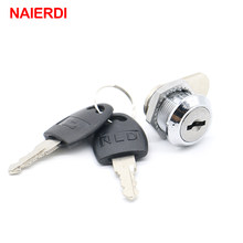 NAIERDI Cam Cylinder Locks Door Cabinet Mailbox Drawer Cupboard Locker Security Furniture Locks With Plastic Keys Hardware(China)
