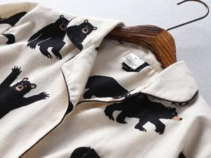 Image 2 - Bzel conjunto de pijama feminino primavera outono novo urso dos desenhos animados manga longa bonito sleepwear terno casual homewear pijama feminino dormir lounge
