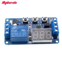 New Timer Relay DC 12V LED Display Digital Delay  Control Switch Module PLC Automation цены