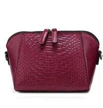 P195 Wholesale 2017 New fashion female single shoulder Bag Women Bag Crocodile Leather Handbag Shell Bag