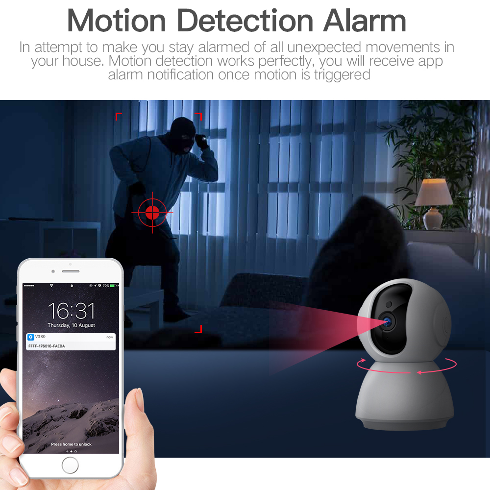 SDETER 1080P 720P Wireless Security Camera IP Camera WiFi CCTV Camera Surveillance Night Vision Baby Monitor Pet Camera P2P Cam