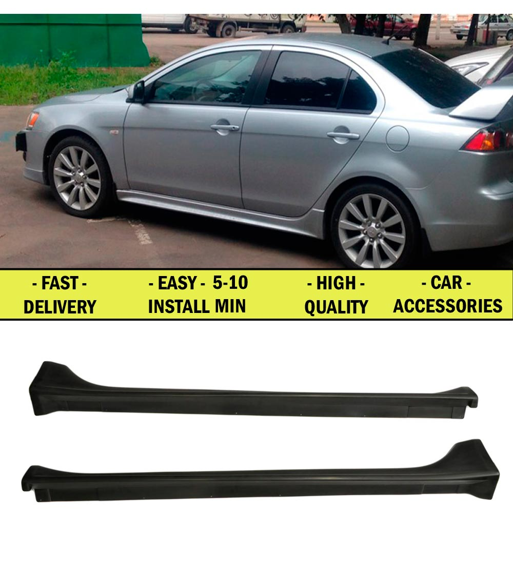 Cover on side walls doors for Mitsubishi Lancer X 2007-2010-2017 ABS plastic styling car tuning accessories styling lining doors