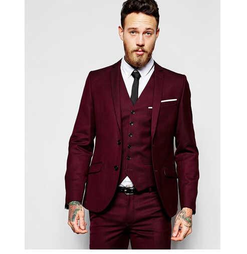 Gwenhwfar 湖青男性は花婿の付添人ワンボタンノッチラペルベストマン男結婚式のためにスーツ龍男性作業服ブレザーとパンツ