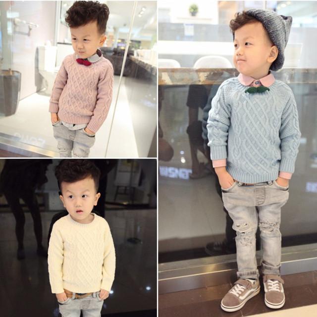 Jerseys niños primavera otoño niño o-cuello de manga larga beige azul rosa sólido cardigan bebé de punto jersey ropa de los niños 3-6 T