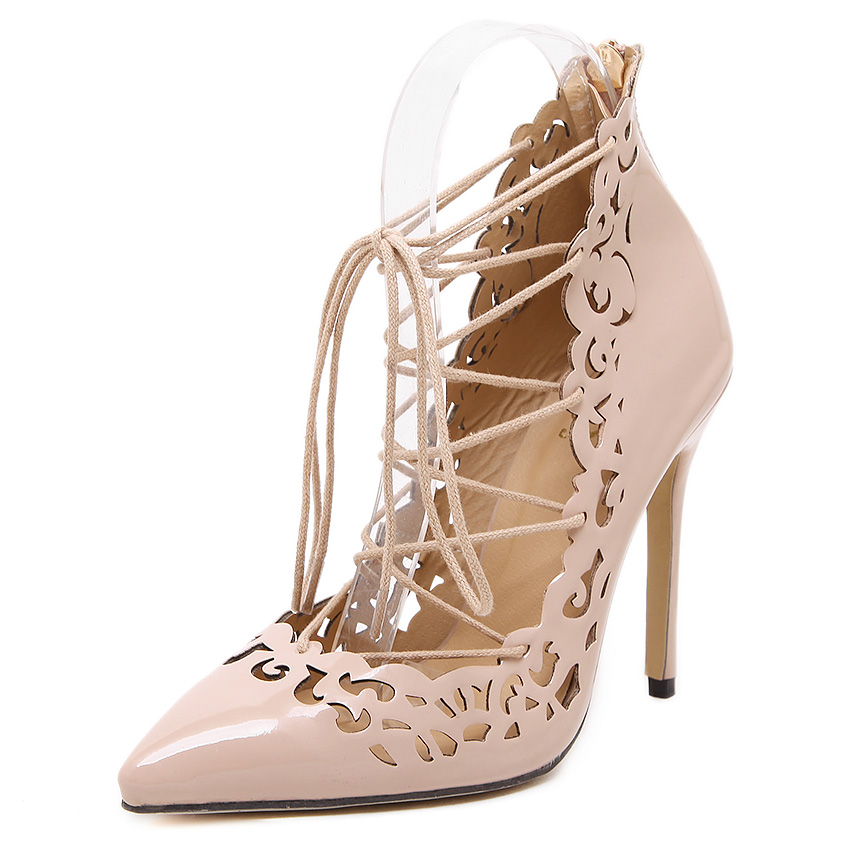 New gladiator summer women pumps fashion pointed toe high heels sandals shoes woman party wedding ladies cut-outs lace up shoe plus size 2017 new summer suede women shoes pointed toe high heels sandals woman work shoes fashion flowers womens heels pumps