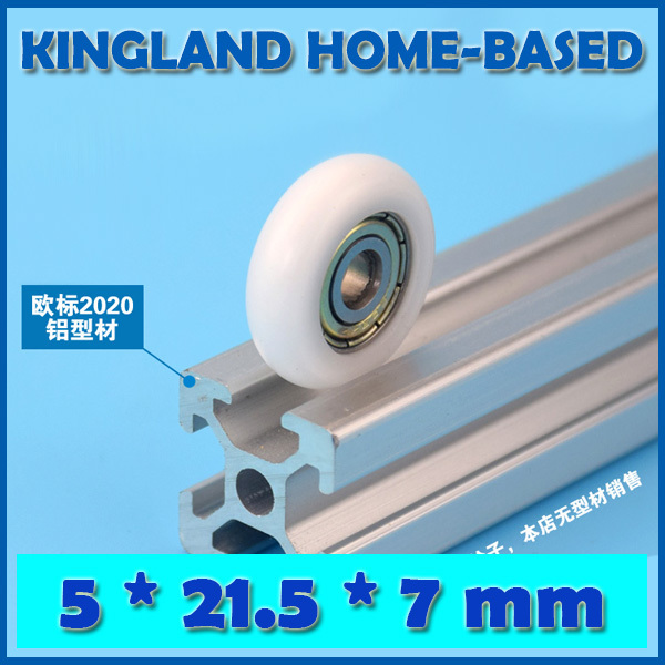 10Pcs 5*21.5*7mm 3D Printer Parts Kossel Nylon Plastic Wheel with Bearings 625ZZ Passive Round POM Bearing Roller Wheel