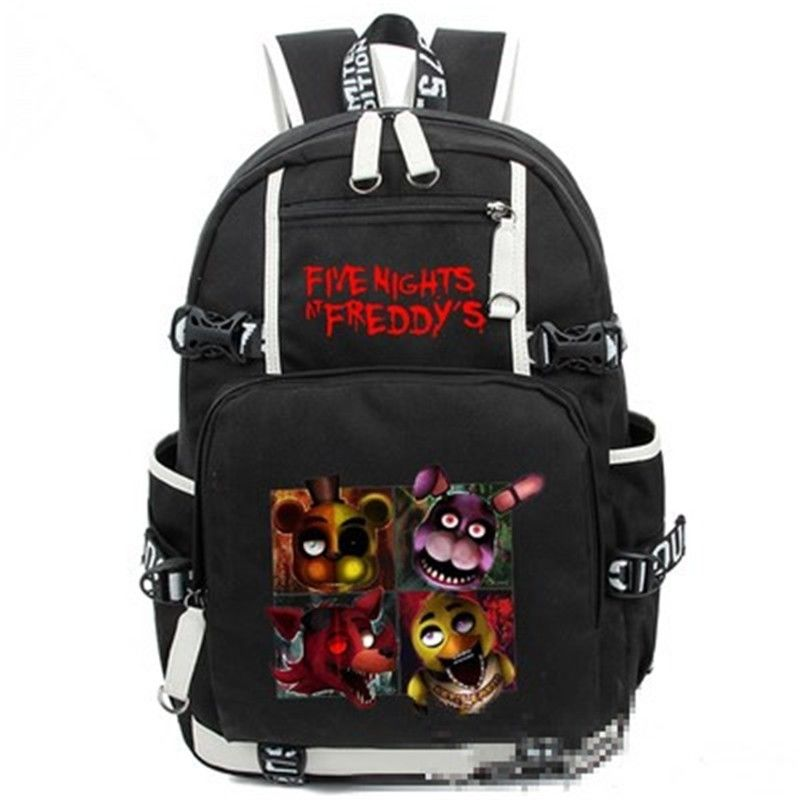 Game Five Nights At Freddy's Freddy Chica Foxy Bonnie Backpack FNAF Shoulder Bag five nights at freddy s freddy backpack chica foxy bonnie fnaf shoulder 44x15x33 cm
