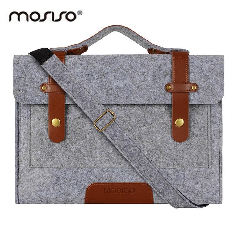 MOSISO Casual Felt Laptop Shoulder Bags Strap 11.6 13.3 14 15 15.6 Inch Briefcase For Macbook Pro/Air Men Messenger Bag Case Hot