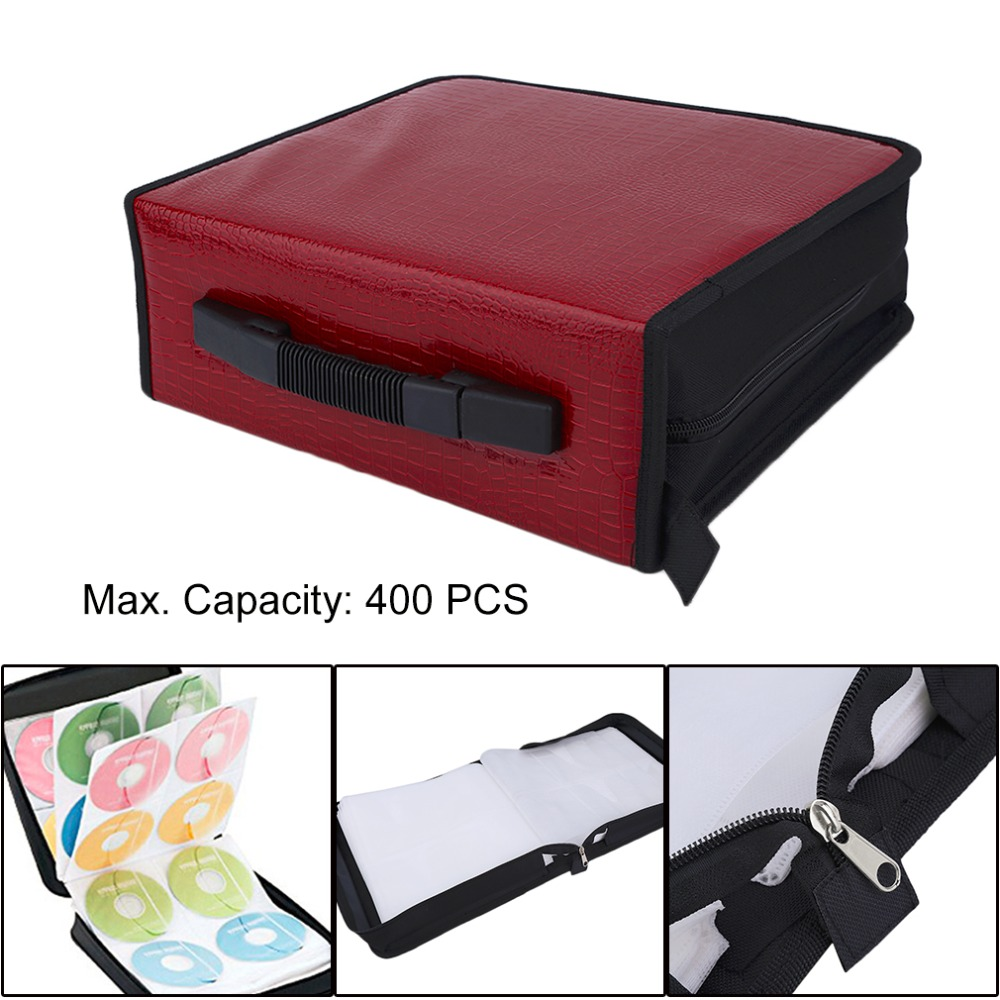 Capacity 400 Disc CD DVD Storage Bag Disc Organizer Holder Media Carry Box Case Portable Wallet Cover Bag Drop Shipping