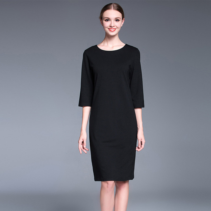 Women's Clothing 2018 Womens Wear New Style Spring And Autumn Slim Elegant Temperament Long Sleeved Lattice Dress.