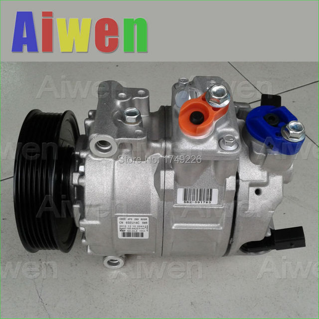 OE Genuine original AC compressor r134a automobiles mini air conditioner for car AUDIA6 4F2 C6 4F0260805R 4471501570 4F0260805N