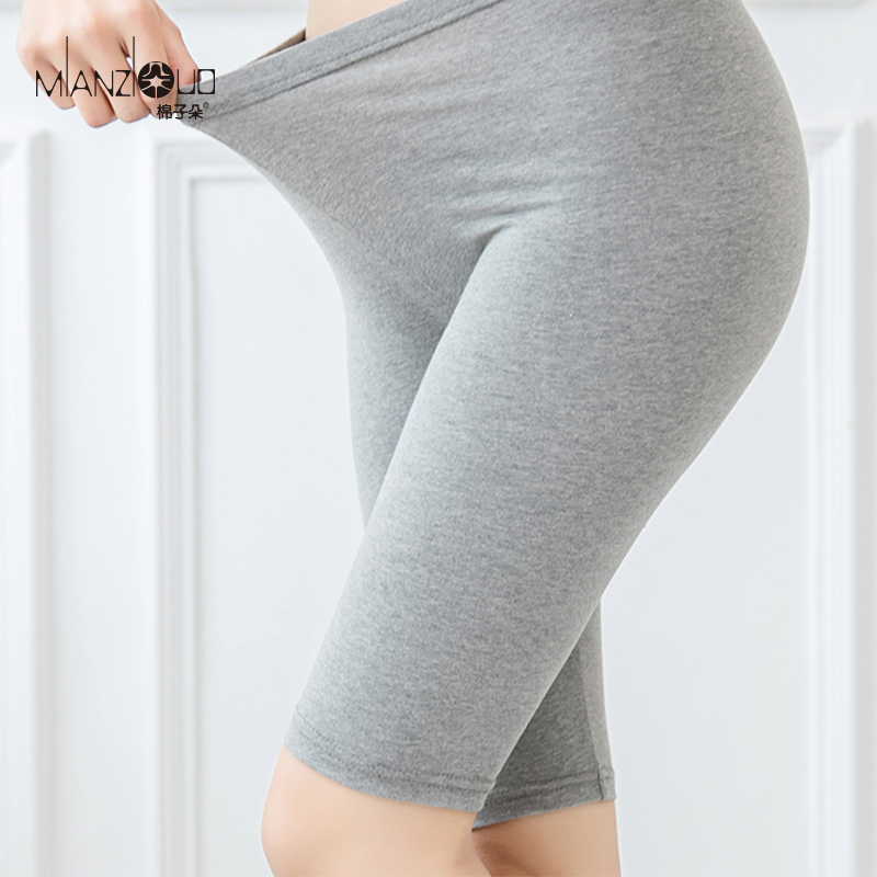 2019 Cotton Summer Women Stretch Thin Capris High Waist Fitness Mid Casual Slim Pants Lady's Knee Length Bicycle  Leggings