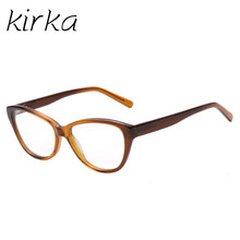 Kirka New Cat Eye Frame for Female Grade Glasses Vintage Eyeglasses Frames for Women Prescription Eyewear Reading Optics Glasses
