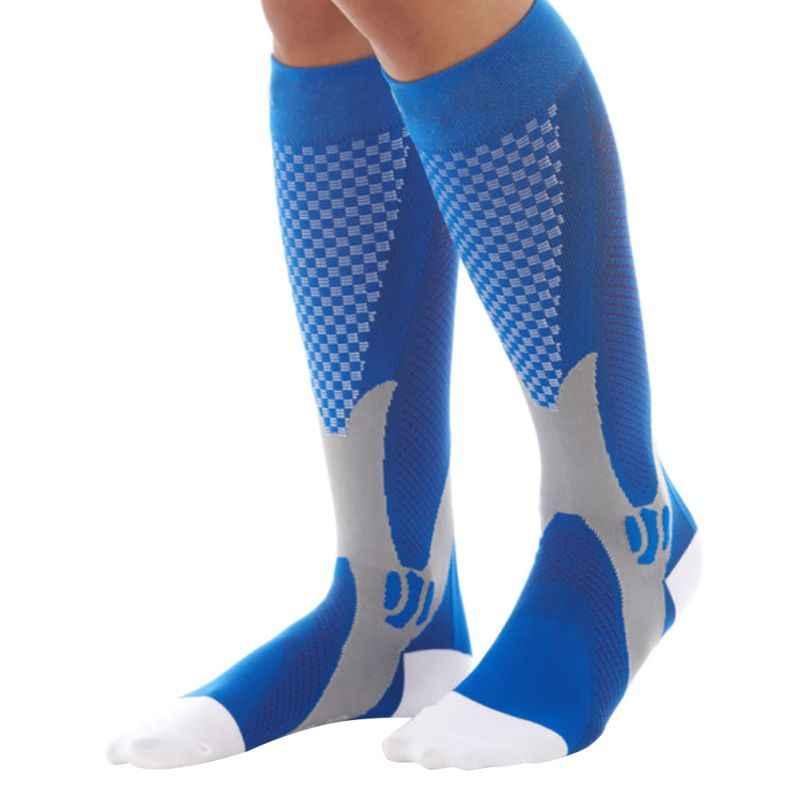 Для мужчин Для Женщин ноги Поддержка стрейч Компрессионные носки унисекс  ниже гетры 450e26c7860