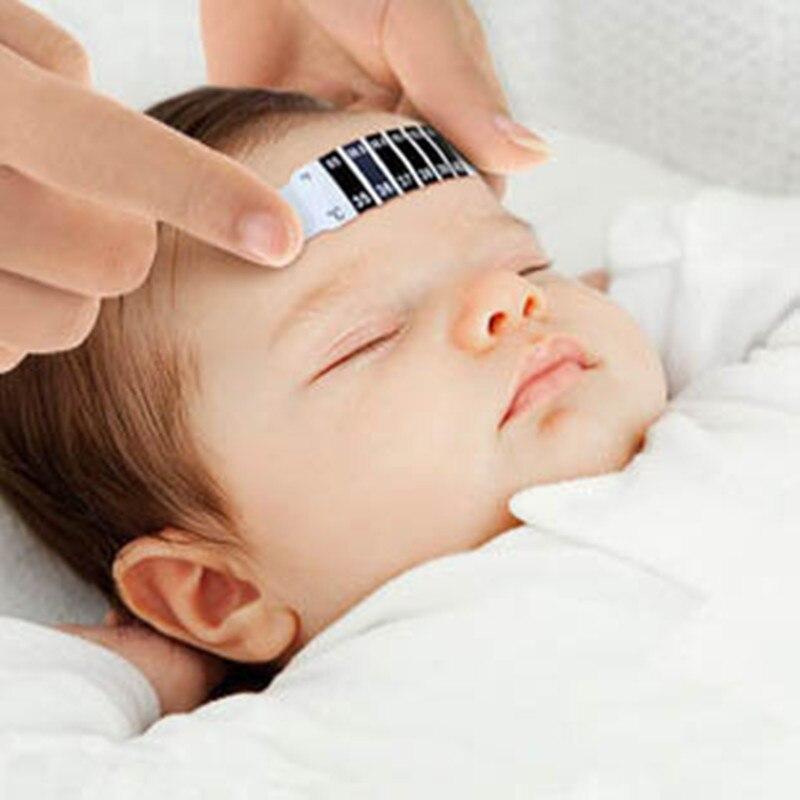 10 Pcs/lot front tête bande thermomètre fièvre corps bébé enfant adulte vérifier Test température surveillance sûr Non-toxique (lot de 10)