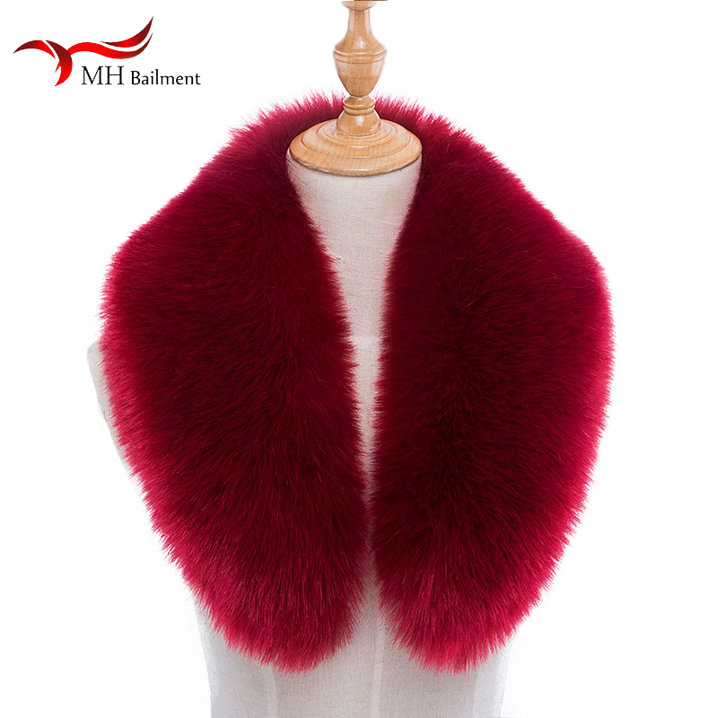 Men Women Collar Winter Imitation Faux Fox Fur Raccoon Fur Collar Hat Fur Collar  Down Jacket Cap Coat Collar Wholesale