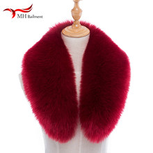 Men women collar winter imitation faux fox fur raccoon fur collar hat fur collar down jacket cap coat collar wholesale(China)