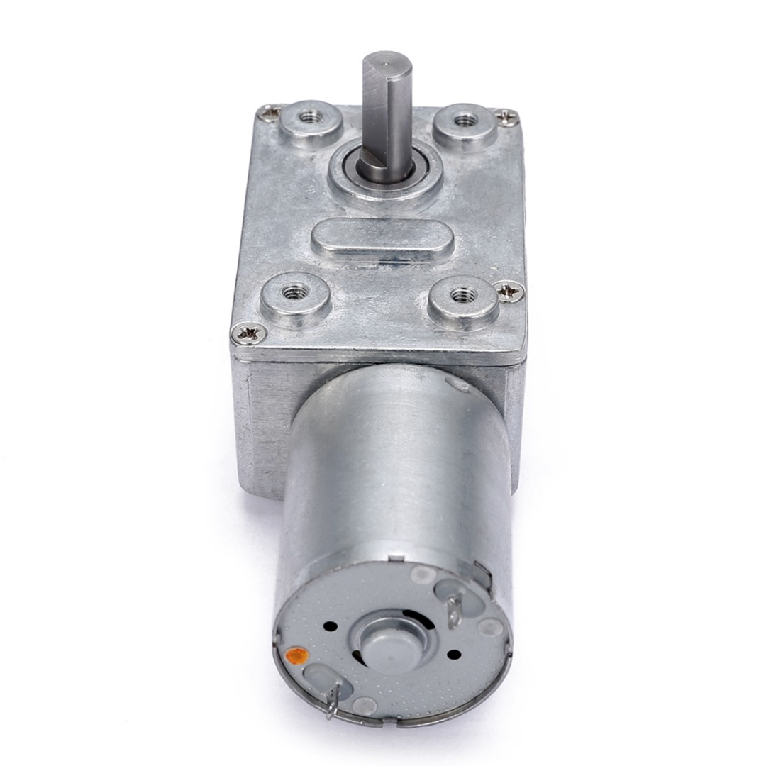 DC 12V Low Speed Geared Motor 0.6RPM High Torque Turbo Worm Electric Geared DC Motor GW370 80x32x21mm dc 12v 60rpm 2 terminals connectortorque speed control geared motor
