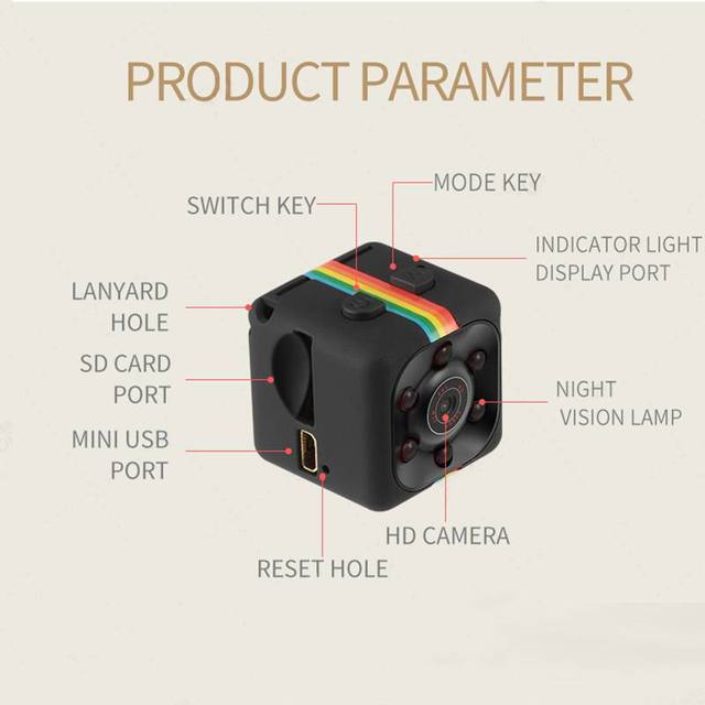 Colorful Camcorders 480P/1080P Sport DV Camera Sport DV Infrared Night Vision Camera Car DV Digital Video Recorder 5