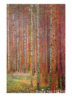 Landscapes paintings of famous artist Tannenwald Gustav Klimt art reproduction High Quality Handmade