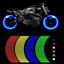 Купить два получить один бесплатный! Мотоцикл Стиль Ступица колеса обод полосой Светоотражающие Наклейка Наклейки Детская безопасность Отражатели для Yamaha Honda Suzuki