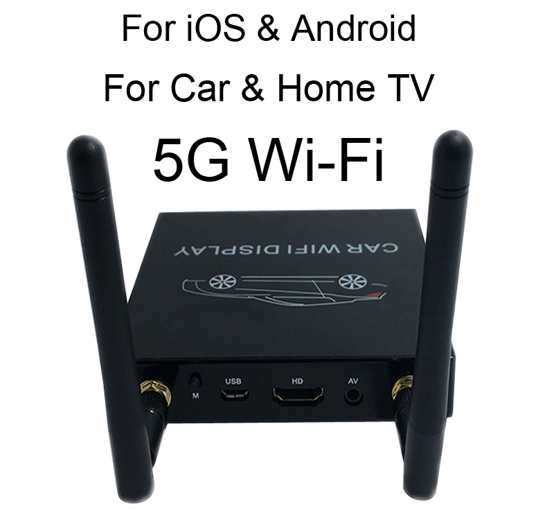 5G Android IOS Car WiFi Display Dongle Mirror Box for HDMI AV Car home TV Video Adapter Miracast DLNA Airplay Screen Mirroring5G Android IOS Car WiFi Display Dongle Mirror Box for HDMI AV Car home TV Video Adapter Miracast DLNA Airplay Screen Mirroring