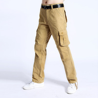 2017 Men Cargo Pants Baggy Army Pant For Workman Fitness Khaki Trousers Mens Military Tactical Pants