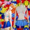 (S-M-L-XL) Love Live! Awakening Honoka Kousaka Sexy Bikini Swimsuit Swimwear Swim Suits Cosplay Costume W0785