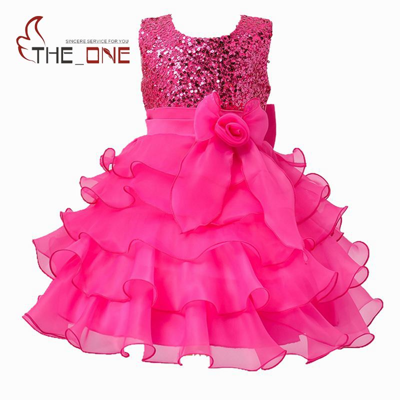 Girls Princess Party Dress Girl Summer Wedding Dress Children Sequined Bow Tutu Lace Evening Dresses Baby Layered Ball Gown T148 summer 2017 new girl dress baby princess dresses flower girls dresses for party and wedding kids children clothing 4 6 8 10 year