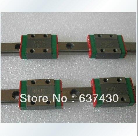 2 pièces 100% d'origine HIWIN Linéaire mini guide MR7 MGN7-L400/500 MM + 4 pièces MGN7C min roulements de bloc